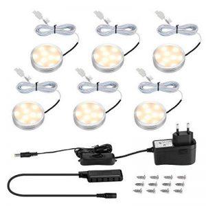 LE Lighting EVER Lampe LED 2W, Blanc Chaud, pour Placard, Meuble de Cuisine, Vitrine, Armoire, Exposition, Lot de 6 de la marque Lighting EVER image 0 produit