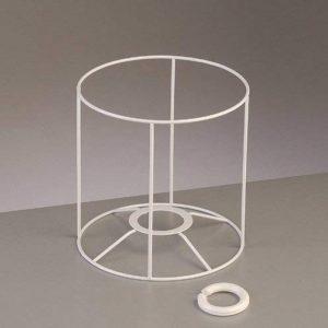 Lealoo® Armature Ronde Blanche pour Abat-Jour, Hauteur et Diamètre 15 cm, Diam. Douille 28mm de la marque Lealoo® image 0 produit