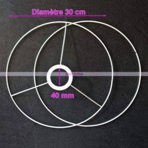 Lealoo® Set d'Ossature de Diamètre 30cm pour Abat-Jour, Anneaux Ronds en Epoxy Blanc, pour Douille Diam 40mm de la marque Lealoo® image 0 produit