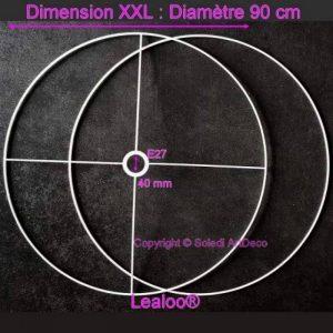 Lealoo Set d'Ossature Diamètre 90cm pour Abat-Jour XXL, Anneaux Ronds Epoxy Blanc, pour Douille diam 40mm E27 de la marque Lealoo image 0 produit