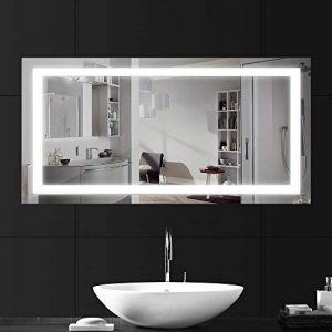 LEBRIGHT 23W 100x60cm Miroir Led Lampe Miroir Salle de Bain Led, Miroir LED Lampe de Miroir Éclairage Salle de Bain Miroir Lumineux Solide de Verre Trempé (6000k Blanc Froid) de la marque LEBRIGHT image 0 produit
