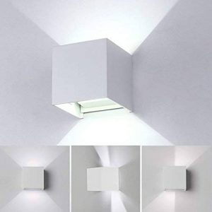 Led Applique Murale Interieur 7W Blanc Lampe murale Moderne,étanche IP65 Réglable Lampe Up and Down Design 6000K Blanc Froid Pour Couloir,Escalier,Salle d'exposition,Salon (Blanc) de la marque Tvgoo image 0 produit