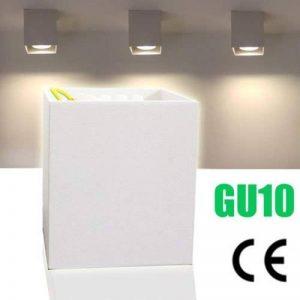 LED Downlight Spot carré Montage plafond lampes Lustre Lampe Blanc GU10CE Moderne Weiße de la marque ONCCI image 0 produit