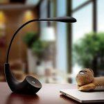 LED Lampe de Bureau Lampe de Chevet Lampe de Lecture Sans Fil Contrôle Tactile USB Rechargeable 3 Niveaux de Luminosité Réglable économie d'énergie avec Charger Câble,14 LED lampes - Hmjunboys(Noir) de la marque Hmjunboys image 2 produit