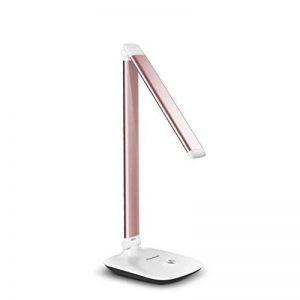LED Lampe de bureau lumière lampe de table réglable lumière de travail lampe de bureau réglable bras pivotant avec abat-jour Rose or Argent A+ ( Color : Rose gold ) de la marque Table lamp image 0 produit