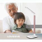 LED Lampe de bureau lumière lampe de table réglable lumière de travail lampe de bureau réglable bras pivotant avec abat-jour Rose or Argent A+ ( Color : Rose gold ) de la marque Table lamp image 2 produit