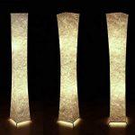 Led Lampe de sol lumière douce avec Tyvek abat-jours en tissu, 132,1cm pliable pour salon Chambre à coucher Home Office Atmosphère chaleureuse, avec 2ampoules LED–besoin de monter–[Classe énergétique A + + +] de la marque JINTU image 2 produit