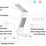 Led Lampe de table pliante Touch Dimming USB Light de charge Eye Perpetual Calendar de la marque LQABW image 4 produit