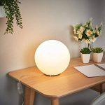 """LED Lampe à poser""""Fenja"""" (Moderne) en Blanc en Verre e. a. pour Salon & Salle à manger (1 lampe,à E14, A+) de Lampenwelt   Lampe à poser LED de la marque Lampenwelt image 3 produit"""