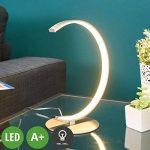 """LED Lampe à poser""""Sipan"""" (Moderne) en Gris en Aluminium e. a. pour Salon & Salle à manger (1 lampe,à A+) de Lampenwelt   Lampe à poser LED de la marque Lampenwelt image 1 produit"""