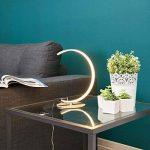 """LED Lampe à poser""""Sipan"""" (Moderne) en Gris en Aluminium e. a. pour Salon & Salle à manger (1 lampe,à A+) de Lampenwelt   Lampe à poser LED de la marque Lampenwelt image 3 produit"""