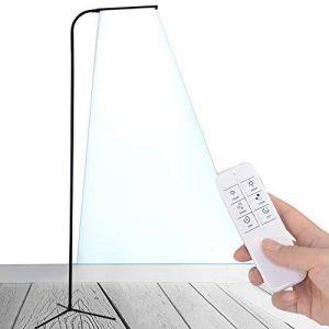 LED lampes sur pied - col de cygne Flexible permanent & Dimmable LED liseuse & trépied de Base Stable, des lampes de lecture réglable 360, 5 couleur & luminosité 12 variateur, tactile & télécommande sans fil – économie d'énergie, pour dortoir, chambre à c image 0 produit