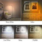 LED lampes sur pied - col de cygne Flexible permanent & Dimmable LED liseuse & trépied de Base Stable, des lampes de lecture réglable 360, 5 couleur & luminosité 12 variateur, tactile & télécommande sans fil – économie d'énergie, pour dortoir, chambre à c image 1 produit