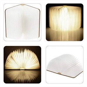 LED Livre Lampe GEEDIAR Lampe LED Pliante en Forme de Livre avec 2500mAh Batterie Lithium Lampe de chevet Veilleuse Lumieres Decoratives Lampes d'ambiance Dimension: 22*17*4CM (8.66*6.69*1.57Inch) de la marque GEEDIAR image 0 produit