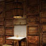LED Lustre Nostalgie Industrielle Personnalité Décorative Suspension Luminaire Fûts de Bois Vintage Convient pour Salon de Thé Restaurant Café Bar Cylindrique Bois Chaîne de Fer 1×E27 40W 25 * 30CM de la marque YOXANG image 3 produit