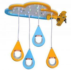 LED Plafond, Bande Dessinée en Bois Art Avion Forme Goutte d'eau Plafonniers, Personnalité Créative Enfants's Room Model Room Moderne Lustre de la marque GJX image 0 produit