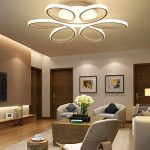 LED Plafonnier Dimmable Moderne Fleur avec Télécommande Silice et Aluminium pour Salon Salle à manger Bureau Blanc Ø58cm*10cm 85W de la marque LFL image 1 produit