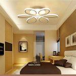 LED Plafonnier Dimmable Moderne Fleur avec Télécommande Silice et Aluminium pour Salon Salle à manger Bureau Blanc Ø58cm*10cm 85W de la marque LFL image 3 produit