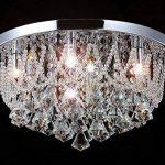 Led plafonnier lampe de plafond strass cristal de verre lustre chandelier salon chambre coucher salle de séjour éclairage de luxe Naida-L 45cm 25W 5xG9 incl. led ampoules. de la marque Lewima image 2 produit