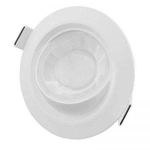 LED Spot encastrable dimmable 8W tournant IP44 etanche Rond ultra blanc chaud pour salle de bain cuisine et salon ( Lampe , projecteur, spot, super lumineux, éclairage LED ultra claires, 580 lm, 2700, 3000, 4000, 6000 K, salon, chambre, couloir, escaliers image 0 produit