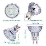 LED Spots Encastrables Orientable,Bojim 6x GU10 Lampe de Plafond Blanc du jour Carré Plafonnier Encastré 6W 4500K 600lm Equivalente de 54W Lampe 30°Orientable 120°d'éclairage 220V Non Dimmable de la marque Bojim image 3 produit