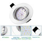 LED Spots Encastrables Orientable,Bojim 6x GU10 Lampe de Plafond Blanc du jour Carré Plafonnier Encastré 6W 4500K 600lm Equivalente de 54W Lampe 30°Orientable 120°d'éclairage 220V Non Dimmable de la marque Bojim image 2 produit