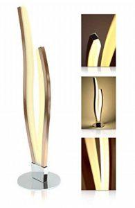 LED Universum Finn Lampe de table à LED au design moderne – Lumière chaude (blanc chaud 3000K), 12W, acier inoxydable brossé mat cuivre / rosé-or – Idéale comme lampe de salon, lampe de chevet et lampe de bureau, Aluminium, Nicht dimmbar, S15s 12.0W de image 0 produit