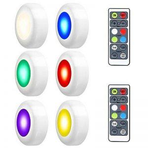 LEDGLE 18W Éclairage Sous Meuble Cuisine Spot LED Lampe de Placard Sans Fil avec Télécommande, Etanche IP44, Lot de 6 de la marque LEDGLE image 0 produit