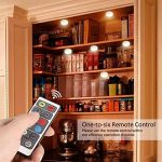 LEDGLE 18W Éclairage Sous Meuble Cuisine Spot LED Lampe de Placard Sans Fil avec Télécommande, Etanche IP44, Lot de 6 de la marque LEDGLE image 4 produit