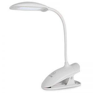 Ledgle 8W Lampe Clip Dimmable LED Lampe De Lecture Protection De Yeux, 3 Niveaux De Luminosité, Lampe De Table Rechargeable Et Flexible, Batterie Au Lithium 1200mah de la marque Ledgle image 0 produit