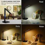 LEDGLE 8W Lampe de Bureau LED Pliable, Écran LCD Affichage Date/Heure/Temp,3 Mode d'éclairage et 5 Niveaux de Luminosité, 5V/1A Port USB pour Cadeau de Noël-Noir de la marque LEDGLE image 4 produit