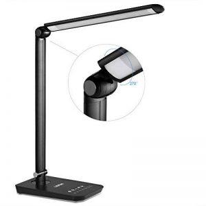 LEDGLE 9W Lampe de Bureau LED Pliable avec 7 Niveaux de Luminosité et 4 Modes d'Eclairage-Noir de la marque LEDGLE image 0 produit