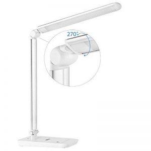 LEDGLE 9W Lampe de Bureau Pliable avec 7 Niveaux de Luminosité Réglable Grand Panneau LED et Contrôle Tactile Sensibles -Blanche de la marque LEDGLE image 0 produit