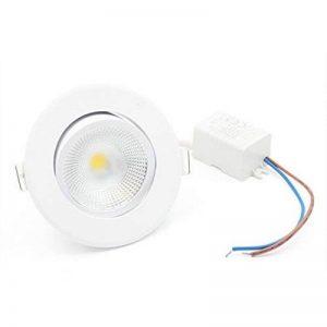 LEDIARY - Lot de 6lampes rondes LED COB - Encastrables - Angle réglable - Mini spots muraux - Blanc Chaud - Pour une découpe de 55mm. de la marque LEDIARY image 0 produit