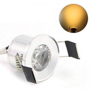Lediary Mini spot LED encastrables 4couleurs disponibles 6000K (blanc lumière du jour) 3000K (blanc chaud) 1,5W, Silver Body Warm White 1.50 W de la marque LEDIARY image 0 produit