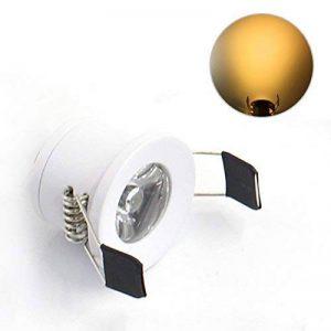 Lediary Mini spot LED encastrables 4couleurs disponibles 6000K (blanc lumière du jour) 3000K (blanc chaud) 1,5W, White Body Warm White 1.50 W de la marque LEDIARY image 0 produit