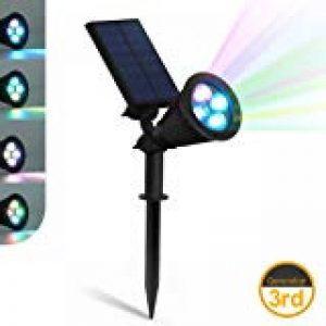 LEDNut 2 pièces LED Lampes Solaires de 320 Lumens, Projecteur à Énergie Solaire Étanche LED Lumière Murale 180° Réglable Extérieure Éclairage Paysager Luminaires de Nuit de Sécurité pour Jardin Spots Encastrés de Sol Lampe Solaire de Mât, Lampe pour Patio image 0 produit
