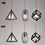 LEDNut Géométrique Shape LED pendentif plafond suspendu lampe chrome éclairage spots projecteurs 3 Lumière dans 1 Plaque de Rectangle D13.8 '' X L47 '' de la marque LEDNut image 4 produit