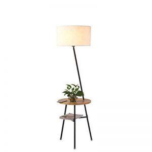 LEGELY Lampe de sol en bois massif de style japonais créatif, la lampe de chevet de salon lampe de table salon canapé nordique, lampadaire de trijumeau de bureau, couleur bois de la marque LEGELY image 0 produit