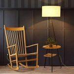 LEGELY Lampe de sol en bois massif de style japonais créatif, la lampe de chevet de salon lampe de table salon canapé nordique, lampadaire de trijumeau de bureau, couleur bois de la marque LEGELY image 4 produit