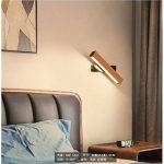 Leuchten murale LED rotatif Multi intérieur de lit modèle Éclairage mural aluminium bois bois couleur Applique murale décorative, fer, Bois, 21 cm, None 4.00watts 220.00volts de la marque QUASHION image 1 produit