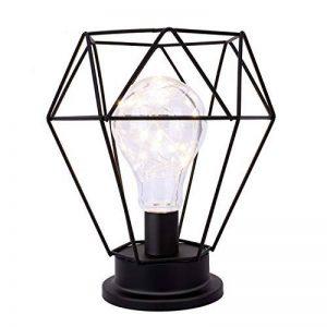 Lewondr Lampe de Table Abat-Jour en Métal Edison Ampoule Lampe de Bureau en Métal Style à Piles Lumières Ambiantes - Diamant de la marque Lewondr image 0 produit