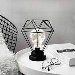 Lewondr Lampe de Table Abat-Jour en Métal Edison Ampoule Lampe de Bureau en Métal Style à Piles Lumières Ambiantes - Diamant de la marque Lewondr image 4 produit