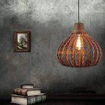 Lgoodl Bambou Naturel Lustre DIY En Osier Abat-jour en rotin Tissage à suspendre lumière D13.8inch de la marque LgoodL image 2 produit
