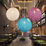 LighSCH Lustre Suspension Plafonnier Vintage Shabby La boule blanche est un simple restaurant et bar de la personnalité d'ajuster,lampe 50cm de la marque Pendant Lights LighSCH image 2 produit