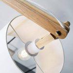 Lightbox Lampadaire moderne en bois avec abat-jour en textile 1 culot E27Max.60W Métal/bois/textile Bois clair/blanc de la marque Lightbox image 1 produit