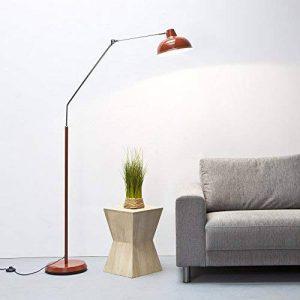 Lightbox Lampadaire moderne en métal/chrome au design rétro 190cm de haut Rétro rouge de la marque Lightbox image 0 produit