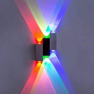 Lightess 6W Applique murale 6 LEDs Up Down Luminaire décoratif d'intérieur pour Chambre Escalier Sallon Bureau - Multi-Couleur de la marque Lightess image 0 produit