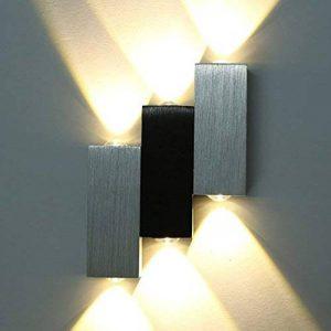 Lightess Applique murale 6 LEDs Up Down 6W Luminaire décoratif d'intérieur pour Chambre Escalier Sallon Bureau - Blanc Chaud de la marque Lightess image 0 produit
