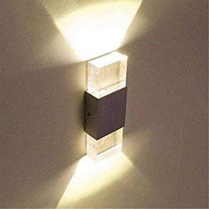 Lightess Applique murale LED 2 Mini en Aluminium 6W Eclairage Decoratif pour Chambre Couloir Salon - Blanc Chaud de la marque SISVIV image 0 produit